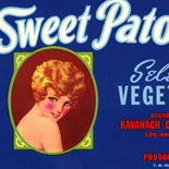 1930c_label_sweet_patootie_4.5x7_dlw, Sweet Patootie Vegetables, 1930c, Lithograph, Advertising Label, Gallery East, Gallery East Network