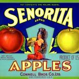 1940c_label_senorita_brand_9x11_dlw, Senorita Brand, 1940c, Lithograph, Advertising Label, Gallery East, Gallery East Network