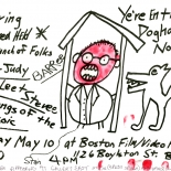 steve_stain_1981_w, Doghouse, Steve Stain, 1981, Offset and marker, Drawings, Original Art, Gallery East, Stain, Gallery East Network