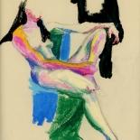 elwood_1980_001w, Nude, Elwood, 1974, Original Art, Paintings, Gallery East, Boston Artist, Gallery East Network
