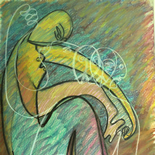 alford_fantasy_kiss.JPG, Fantasy Kiss, Al Ford, 1983, Original Art, Pastels, Gallery East, Ford, Gallery East Network
