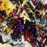 savarino_1989_bejeweled08_11x14w, Bejeweled #8, Paola Savarino, 1989, Mixed media on canvas, Savarino, Gallery East, Gallery East Boston