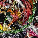 savarino_1989_bejeweled20_12x16w, Bejeweled #60, Paola Savarino, 1989, Mixed media on canvas, Savarino, Gallery East, Gallery East Boston