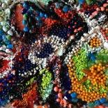 savarino_1989_bejeweled21_12x16w, Bejeweled #61, Paola Savarino, 1989, Mixed media on canvas, Savarino, Gallery East, Gallery East Boston