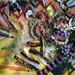 savarino_1990_summertime_blues_11x14w, Summertime Blues, Paola Savarino, 1989, Mixed media on canvas, Savarino, Gallery East, Gallery East Boston