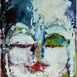 01_2007_savarino_meditation_w, Meditation, Paola Savarino, Encaustic on canvas , Gallery East, Gallery East Boston