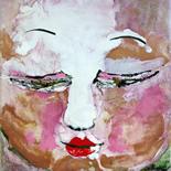 02_2007_savarino_achi_w, Achi Chokyi Drolma, Paola Savarino, Encaustic on canvas , Gallery East, Gallery East Boston
