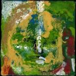 savarino_2007_green_blue_medicine_buddha_4x4w, 2007, Encaustic on canvas, Gallery East, Gallery East Boston, Paola Savarino, Sarvino, Green Blue Medicine Buddha