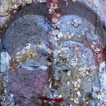 savarino_2009_buddha_meditation_4x5w, 2009, Buddha Meditation, Polymer on canvas, Gallery East, Gallery East Boston, Paola Savarino, Savarino