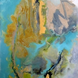 savarino_tara_hand_8x10w, 2004, Encaustic on canvas, Gallery East, Gallery East Boston,Tara's Hand, Paola Savarino, Sarvino