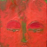 amitabha_12x12_w, Amitabha, Paola Savarino, 2005, Encaustic on canvas, Savarino, Gallery East, Gallery East Boston