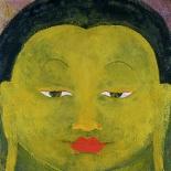 green_tara_48x48w, Green Tara, Paola Savarino, 2000, Encaustic on canvas, Savarino, Gallery East, Gallery East Boston