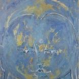 savarino_2002_blue_buddha_vajradhara _36x40w, 2002, Blue Buddha Vajradhara, Encaustic on canvas, Gallery East, Gallery East Boston, Paola Savarino, Savarino