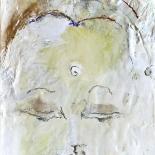 savarino_2006_white_tara_9x12w, 2006, Amitabha, Encaustic on canvas, Gallery East, Gallery East Boston, Paola Savarino, Savarino