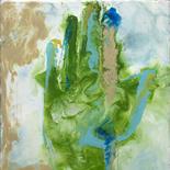 tara_hand_8x11w, Tara's Hand (card), Paola Savarino, 2004, Encaustic on canvas, Savarino, Gallery East, Gallery East Boston