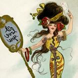 1905c_postcard_dwiggin_01b_3.5x5.5_dlw, I Love You, Clare Victor Dwiggins, Dwiggins, 1905c, Lithograph, postcard, Gallery East, Gallery East Network