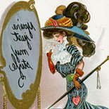 1905c_postcard_dwiggin_04b_3.5x5.5_dlw, You're Just My Style, Clare Victor Dwiggins, Dwiggins, 1905c, Lithograph, postcard, Gallery East, Gallery East Network
