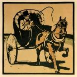 1898_nicholson_cabriolet_6.25x6.25_dlw, Lithograph, Gallery East, 1898, Gallery East Network, Sir William Nicholson, SirNicholson, Cabriolet