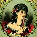 1880c_cr_belle_virginia_6.75x14_dlw, Art Nouveau, The Belle of Virginia, A Hoen & CO, c.1880, lithograph, Objets d'art, Gallery East, Objets, Gallery East Network