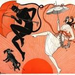 19120720_la_vie_parisienne_9x9_dlw, La Vie Parisienne Juillet, Georges Léonnec, Léonnec, Magazine Cover, 1912, Gallery East, Gallery East Network