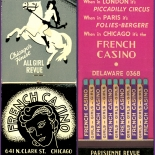 1930c_cr_french_casino_3.5x8_dlw, French Casino Chicago, Lithograph, Matchbook, 1930c, Objets, Gallery East, Gallery East Network