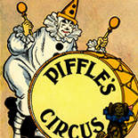 1939_platt_munk_02_piffles_circus_dlw, Piffle's Circus, Platt & Munk Co, 1939, Lithograph, Label, Objets, Gallery East Network, Gallery East