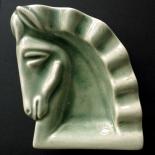 1940c_cr_ceramic_ashtray_5.5x7x1.5_dlw, Art Nouveau, Horse Head Ashtray, c.1830, ceramic, Objets d'art, Gallery East, Objets, Gallery East Network