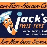 1949_cr_jacks_twistees_4x9_dlw, Jack's Twis-Tees, 1949, Gallery East, Objets, Lithograph, Gallery East Network
