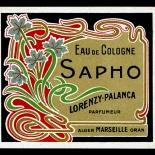 10_LB003_sapho_art_nouveau_perfume_w, Objets d'art, Art Nouveau, Perfume Labels, Objets, Gallery East Network