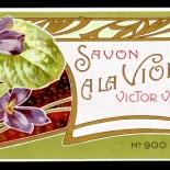20_LB014_ala_violette_art_nouveau_perfume_w, Objets d'art, Art Nouveau, Perfume Labels, Objets, Gallery East Network