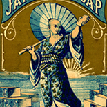 1875c_vtc_japanese_soap_dlw, Art Nouveau, Japanese Soap, L. I. Fiske & Cos, Victorian Trading Card, c 1890, Lithograph, Objets d'art, Gallery East, Objets, Gallery East Network