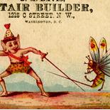 1880c_vtc_duelist_2.75x4.25_dlw, Art Nouveau, Duelist, JM Davis, Victorian Trade Card, c 1880, Lithograph, Objets d'art, Gallery East, Objets, Gallery East Network
