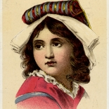 1880c_vtc_gilchrist_sunshine_3x4.25_dlw, Art Nouveau, Gilchrist Girl, Sunshine & CO, Victorian Trade Card, c 1880, Lithograph, Objets d'art, Gallery East, Objets, Gallery East Network