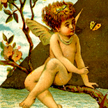 1880c_vtc_girl_fairy_2.75x5_dlw, Art Nouveau, Girl Fairy, Prince & Walker, Victorian Trade Card, c1880, Lithograph, Objets d'art, Gallery East, Objets, Gallery East Network