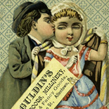 1880c_vtc_kiss_3x4.5_dlw, Trade Card, c 1880, Lithograph, Objets d'art, Gallery East, Objets, Gallery East Network