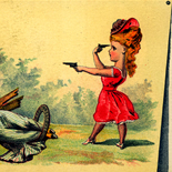 1880c_vtc_suicide_love_3.25x4.5_dlw, Art Nouveau, Suicide Love, Ketterlinus, Victorian Trade Card, c 1880, Lithograph, Objets d'art, Gallery East, Objets, Gallery East Network