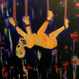 06_2014_tomasino_true_shape_of_a_torture_victim_w, True Shape of a Torture Victim, Walter Tomasino, 2014, Acrylic on canvas, Secret Prisoners, Expressionist, Punk, Gallery East, Tomasino, Gallery East Network