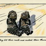1929_nicholson_pirate_twins_17_dlw, The Pirate Twins, P17, William Nicholson, Nicholson, Lithograph, Children's Book, 1929, Gallery East, Gallery East Network