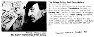 Al Ford, Gallery East