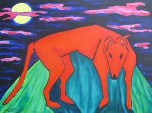 The Night of the Orange Dog, Gallery East, Walter Tomasino