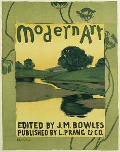 Boston artist, Arthur W. Dow , Plate 36, Les Maitres de l'Affiche, Gallery East Network
