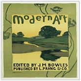 Boston artist, Arthur W. Dow , Plate 36, Les Maitres de l'Affiche